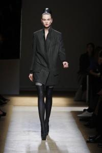 YSL FW09 dark grey pinstrip jacket