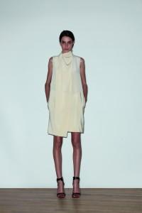Silk wrap neck dress, $14500