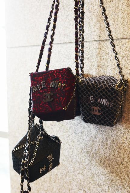 好玩的唐人街外賣盒子手袋