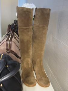 Sofia' s monogram suede boots
