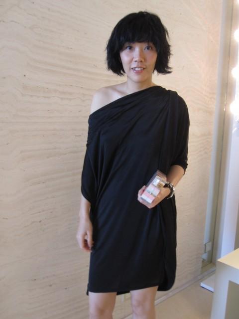 Me in Puma UM dress + LV candy box minaudiere
