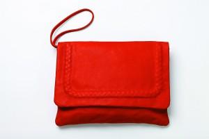 JAS M.B. SS11 Lisa clutch in Beach Red $3700