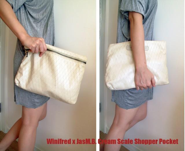 Cream Scale Shopper Pocket