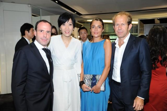 我&法國領事Arnaud Barthelemy和領事夫人和YSL新任總裁Paul
