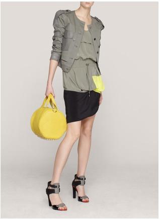 Alexander Wang grey yello colour block dress