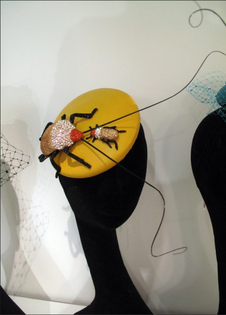Piers Atkinson headpiece, yellow is the colour of the season