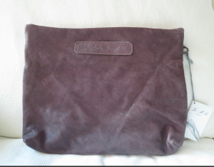 L Wash purple Shopper Pocket