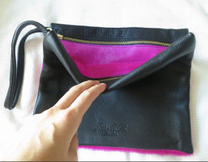 Shocking Pink Pony Double Clutch